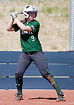 April 20, 2012:   University of Hawai'i Warrior Sara Robinson at the plate against the Nevada Wolf Pack during their NCAA softball game played at Christina M. Hixson Softball Park on Friday in Reno, Nevada.