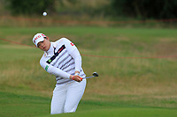 Ariya Jutanugarn (THA) on the 1st during Round 2 of the Ricoh Women's British Open at Royal Lytham &amp; St. Annes on Friday 3rd August 2018.<br /> Picture:  Thos Caffrey / Golffile<br /> <br /> All photo usage must carry mandatory copyright credit (&copy; Golffile | Thos Caffrey)