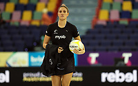 07.10.2018 Silver Ferns Te Paea Selby-Rickit warms up prior to the Silver Ferns v Australia netball test match at the Brisbane Entertainment Centre in Brisbane. Mandatory Photo Credit ©Michael Bradley.