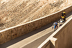 The breakaway group in action during Stage 6 of the 2018 Tour of Oman running 135.5km from Al Mouj Muscat to Matrah Cornich. 18th February 2018.<br /> Picture: ASO/Muscat Municipality/Kare Dehlie Thorstad | Cyclefile<br /> <br /> <br /> All photos usage must carry mandatory copyright credit (&copy; Cyclefile | ASO/Muscat Municipality/Kare Dehlie Thorstad)