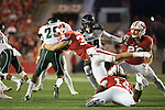Wisconsin Badgers defensive back Joe Ferguson (36) makes a tackle of special teams during an NCAA college football game against the Hawaii Rainbow Warriors Saturday, September 26, 2015. The Badgers won 28-0. (Photo by David Stluka)
