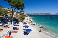 Greece, Aegean Islands, Southern Sporades, Island Samos, near Ireon: Pappa Beach | Griechenland, Aegaeis, Suedliche Sporaden, Insel Samos, bei Ireon: Pappa Beach