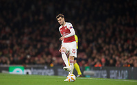 Carl Jenkinson of Arsenal during the UEFA Europa League group match between Arsenal and Sporting Clube de Portugal at the Emirates Stadium, London, England on 8 November 2018. Photo by Andrew Aleks / PRiME Media Images.<br /> .<br /> (Photograph May Only Be Used For Newspaper And/Or Magazine Editorial Purposes. www.football-dataco.com)