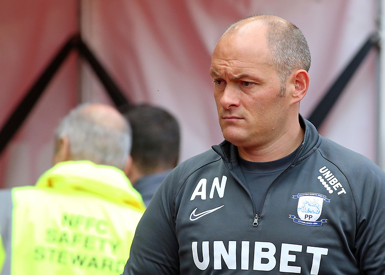 Preston North End manager Alex Neil looks on before kick off<br /> <br /> Photographer David Shipman/CameraSport<br /> <br /> The EFL Sky Bet Championship - Nottingham Forest v Preston North End - Saturday 31st August 2019 - The City Ground - Nottingham<br /> <br /> World Copyright © 2019 CameraSport. All rights reserved. 43 Linden Ave. Countesthorpe. Leicester. England. LE8 5PG - Tel: +44 (0) 116 277 4147 - admin@camerasport.com - www.camerasport.com
