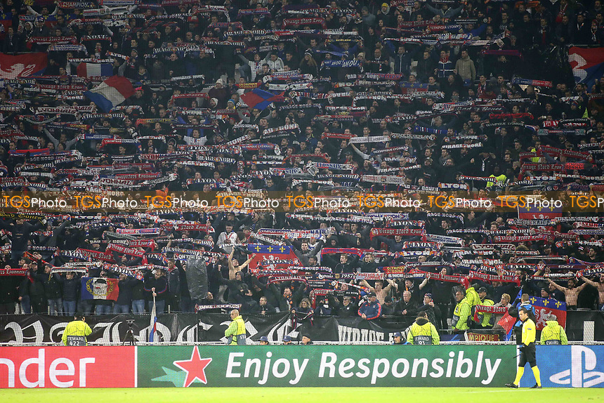 Lyon fans show their support in the second half during Lyon vs Manchester City, UEFA Champions League Football at Groupama Stadium on 27th November 2018
