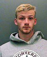 """Pictured: Rhys Jervis<br /> Re: A """"brave"""" shopkeeper carrying a wooden stick chased a gun-toting masked robber out of his store.<br /> Jayendra Patel was alone in his shop in Maesteg when Rhys Randall burst in demanding money and brandishing what appeared to be a handgun.<br /> Randall, Rhys Jervis and Courtney Donaldson were sentenced at Cardiff Crown Court on Wednesday for conspiracy to commit robbery.<br /> Speaking after the hearing, South Wales Police Detective Constable Gillon Neal, who oversaw the investigation, said: """"This was a cowardly and brazen attempt to rob a hardworking and well-respected local shop owner.""""<br /> The court heard the incident occurred at 7.30pm on Tuesday, February 16, last year at M&V Store in Victoria Street in Maesteg.<br /> Prosecutor Andrew Davies said Jervis entered the shop first to """"scope out"""" the premises, establishing that shopkeeper Mr Patel was alone.<br /> Randall then entered with his hood pulled over his face and pointed a black handgun in the victim's face, demanding: """"Give me the money."""""""