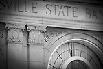 Detail of the Crawfordsville State Bank building, Crawfordsville, Indiana