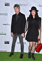 SANTA MONICA, CA. February 21, 2019: Aidan Gillen & Camille O'Sullivan at the 14th Annual Oscar Wilde Awards.<br /> Picture: Paul Smith/Featureflash