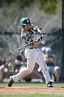 Slippery Rock outfielder Graeme Zaparzynski (16) during a game against Kentucky Wesleyan College at Jack Russell Stadium on March 14, 2014 in Clearwater, Florida.  Slippery Rock defeated Kentucky Wesleyan 18-13.  (Mike Janes/Four Seam Images)