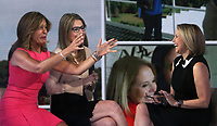 NEW YORK, NY April 11, 2018: Hoda Kotb, Savannah Guthrie, interview Katie Couric at Today Show to talk about new documentary series America Inside Out with Katie Couric in New York. April 11, 2018 <br /> CAP/MPI/RW<br /> &copy;RW/MPI/Capital Pictures