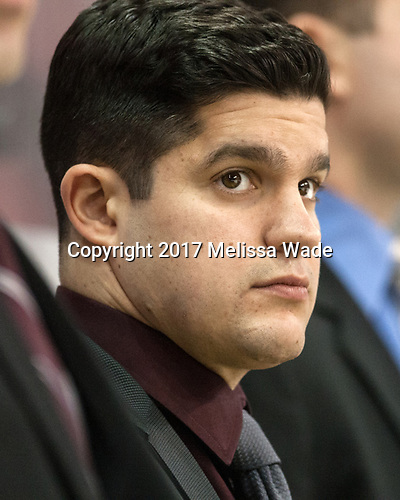 James Marcou (UMass - Volunteer Assistant Coach) - The Boston University Terriers defeated the University of Massachusetts Minutemen 3-1 on Friday, February 3, 2017, at Agganis Arena in Boston, Massachusetts.The Boston University Terriers defeated the visiting University of Massachusetts Amherst Minutemen 3-1 on Friday, February 3, 2017, at Agganis Arena in Boston, MA.