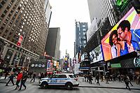 NEW YORK, NY, 03.04.2017 - SEGURANÇA-NEW YORK - Viatura policial é vista na Times Square em New York nesta segunda-feira, 03. Grande movimentação de policiais pode ser notado nas ruas, devido ataque que aconteceu na Rússia nesta manhã.(Foto: William Volcov/Brazil Photo Press)