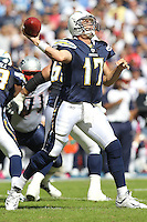 10/24/10 San Diego, CA: San Diego Chargers quarterback Philip Rivers #17 during an NFL game played at Qualcomm Stadium between the San Diego Chargers and the New England Patriots. The Patriots defeated the Chargers 23-20.