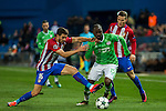 Atletico de Madrid's Vrsaljko, Kevin Gameiro and PSV Eindhoven's Jetro Willems  during the Champions League match between Atletico de Madrid and PSV Eindhoven at Vicente Calderon Stadium in Madrid , Spain. November 23, 2016. (ALTERPHOTOS/Rodrigo Jimenez)