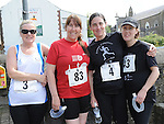 Bernie Callan, Alison Harmon, Jenny Carrie and  Louise Woodgate who took part  in the Ardee 10k run at the Turfman festival. Photo: Colin Bell/pressphotos.ie