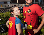 Deeanna Talbot, left, and Stanley Dass of Team Dash at the sixth annual Doughman race, Durham, N.C., Sat., May 25, 2013.
