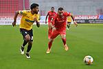 Spiel am 35 Spieltag in der Saison 2019-2020 in der 3. Bundesliga zwischen dem FC Ingolstadt 04 und dem SV Waldhof Mannheim am 24.06.2020 in Ingolstadt. <br /> <br /> Mohamed Gouaida (Nr.18, SV Waldhof Mannheim) und Fatih Kaya (Nr.9, FC Ingolstadt 04)<br /> <br /> Foto © PIX-Sportfotos *** Foto ist honorarpflichtig! *** Auf Anfrage in hoeherer Qualitaet/Aufloesung. Belegexemplar erbeten. Veroeffentlichung ausschliesslich fuer journalistisch-publizistische Zwecke. For editorial use only. DFL regulations prohibit any use of photographs as image sequences and/or quasi-video.