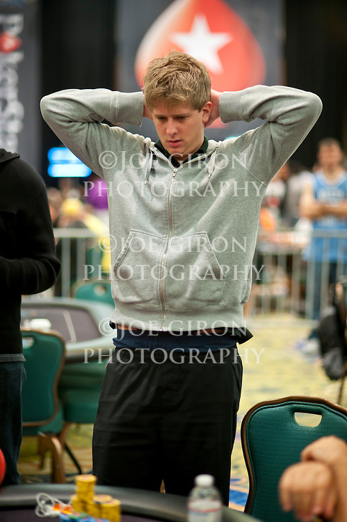 Max Lehmanski reacts to seeing a flop in his favor.