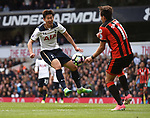 Heung-Min Son-Tottenham & Charlie Daniels-Bournemouth during the English Premier League match at the White Hart Lane Stadium, London. Picture date: April 15th, 2017.Pic credit should read: Chris Dean/Sportimage