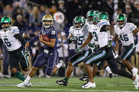 Annapolis, MD - October 26, 2019: Navy Midshipmen quarterback Malcolm Perry (10) runs the ball during the game between Tulane and Navy at  Navy-Marine Corps Memorial Stadium in Annapolis, MD.   (Photo by Elliott Brown/Media Images International)