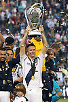 01 December 2012: Los Angeles' Robbie Keane (IRL) holds the Philip F. Anschutz Trophy. The Los Angeles Galaxy played the Houston Dynamo at the Home Depot Center in Carson, California in MLS Cup 2012. Los Angeles won the game 3-1.