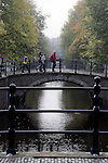 AMSTERDAM - NETHERLANDS - 19 OCTOBER 2004 -- Bridges over the  canal of the Reguliersgracht.-- PHOTO:  EUP-IMAGES / JUHA ROININEN