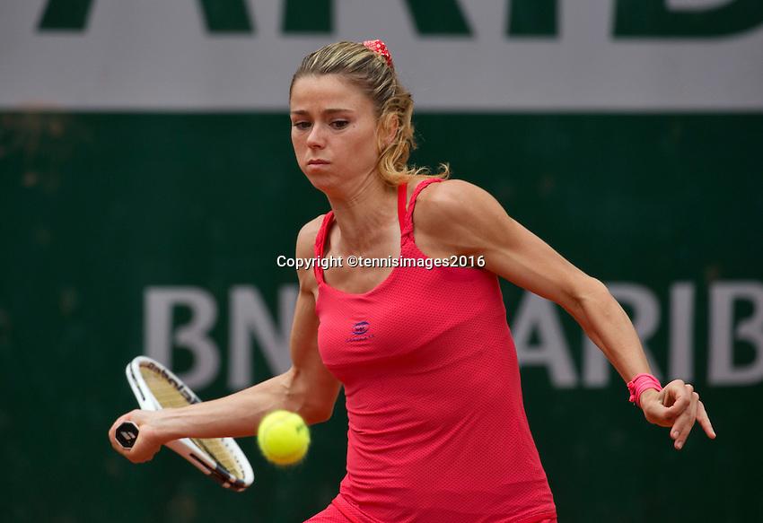 Paris, France, 26 June, 2016, Tennis, Roland Garros,  Camila Giorgi (ITA)<br /> Photo: Henk Koster/tennisimages.com