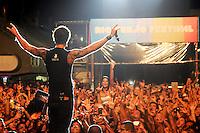 RIO DE JANEIRO, RJ, 16 MARÇO 2013 - RIO VERÃO FESTIVAL 2013 - A banda Capital Inicial durante a segunda edição do Rio Verão Festival 2013 na Praça da Apoteose no Rio de Janeiro, neste sábado, 16. (FOTO: SANDRO VOX / BRAZIL PHOTO PRESS).