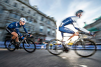 Picture by Allan McKenzie/SWpix.com - 17/05/2018 - Cycling - OVO Energy Tour Series Mens Race Round 3:Aberdeen - Harry Tanfield and James Oram.