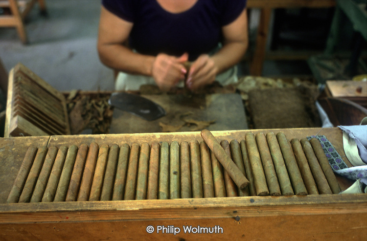 The Francisco Donatien cigar factory in Pinal del Rio employs 80 workers.