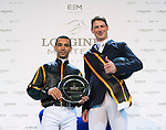 The Winner Danier Deusser, Joao Moreina The HKJC Race of the Rider during the Longines Masters of Hong Kong on 19 February 2016 at the Asia World Expo in Hong Kong, China.Photo by Li Man Yuen / Power Sport Images