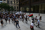 Demonstrators in Daley Plaza in support a Citizens Police Accountability Council to provide civilian oversight of the Chicago Police Department in Chicago, Illinois on July 11, 2016.  The demonstration attracted a larger crowd on the heels of last week's racially charged police shootings captured on video of Alton Sterling in Baton Rouge, Louisiana and Philando Castile in the St. Paul suburb of Falcon Heights, Minnesota which was followed by a mass shooting of five police officers by Afghan War veteran Micah Johnson who supported radical and violent black nationalist ideology.