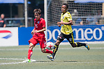 HKFA Red Dragons (in red) vs Wellington Phoenix (in yellow) during their Main Tournament Plate Semi-Final match, part of the HKFC Citi Soccer Sevens 2017 on 28 May 2017 at the Hong Kong Football Club, Hong Kong, China. Photo by Marcio Rodrigo Machado / Power Sport Images