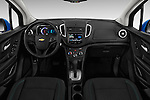Stock photo of straight dashboard view of 2016 Chevrolet Trax LS 5 Door SUV Dashboard