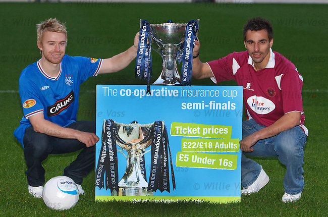 Stevie Smith and Fillip Morais at Hampden to preview the Rangers v St Johnstone co-operative cup semi final