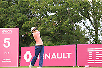 Ayako Uehara (JPN) tees off the 5th tee during Friday's Round 2 of The Evian Championship 2018, held at the Evian Resort Golf Club, Evian-les-Bains, France. 14th September 2018.<br /> Picture: Eoin Clarke | Golffile<br /> <br /> <br /> All photos usage must carry mandatory copyright credit (&copy; Golffile | Eoin Clarke)