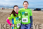 Ready for the Inch Half Marathon on Inch Beach on Sunday morning. L-r, Mary Magner (Cork) and Evonne McEniry.