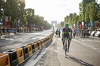 Michael 'Bling' Matthews (AUS/Orica-BikeExchange) rolling down the Champs-Elysées after finishing the 2016 Tour de France<br /> <br /> Final stage 21 - Chantilly › Paris/Champs Elysées (113km)<br /> 103rd Tour de France 2016
