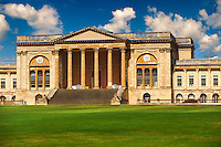 The neo-classic south front with Corinthian columns of the Duke of Buckingham's  Stowe House designed by Robert Adam in 1771,  Buckingham, England