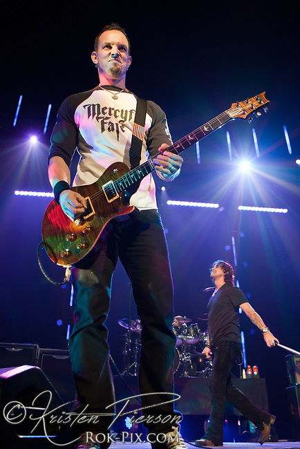 Creed perform at Mohegan Sun Arena on April 21, 2012.