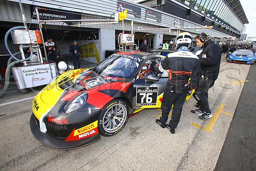 14.05.2016. Silvertone Circuit, Nathants, England. Blancpain Endurance GT Series motor racing.  #76 IMSA PERFORMANCE (FRA) PORSCHE 911 GT3 R RAYMOND NARAC (FRA) THIERRY CORNAC (FRA) MAXIME JOUSSE (FRA)