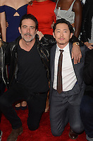 HOLLYWOOD, CA - OCTOBER 23: Jeffrey Dean Morgan and Steven Yeun at AMC Presents Live, 90-Minute Special Edition of 'Talking Dead' at Hollywood Forever on October 23, 2016 in Hollywood, California. Credit: David Edwards/MediaPunch
