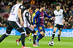 Lionel Messi of FC Barcelona (C) in action during the Copa Del Rey 2017-18 match between FC Barcelona and Valencia CF at Camp Nou Stadium on 01 February 2018 in Barcelona, Spain. Photo by Vicens Gimenez / Power Sport Images