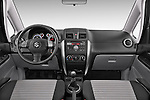 Stock photo of straight dashboard view of a 2013 Suzuki SX4 Grand Luxe Exterior 5 Door SUV 2WD Dashboard