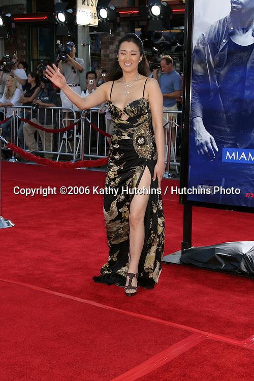 "Gong Li.""Miami Vice"" Premiere.Mann's Village Theater.Westwood, CA.July 20, 2006.©2006 Kathy Hutchins / Hutchins Photo...."