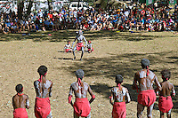 Woorabinda Dancers and Crowd,  Laura Aboriginal Dance Festival, Laura, Cape York Peninsula, Queensland, Australia.