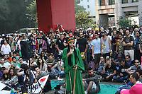 SAO PAULO - SP - 08 DE JUNHO DE 2013 - MARCHA DA MACONHA, acontece na tarde deste sabado, a concentração é no vão do Masp e a passeata deve seguir até a Praça da Republica. FOTO: MAURICIO CAMARGO / BRAZIL PHOTO PRESS.