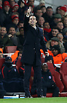 PSG's Unai Emery in action during the Champions League group A match at the Emirates Stadium, London. Picture date November 23rd, 2016 Pic David Klein/Sportimage