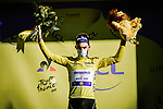Julian Alaphilippe (FRA) Deceuninck-Quick Step retains the race leaders Yellow Jersey at the end of Stage 4 of Tour de France 2020, running 160.5km from Sisteron to Orcieres-Merlette, France. 1st September 2020.<br /> Picture: ASO/Pauline Ballet | Cyclefile<br /> All photos usage must carry mandatory copyright credit (© Cyclefile | ASO/Pauline Ballet)