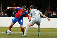 Keith Watson of Hartlepool United and Michael Cheek of Dagenham during Dagenham & Redbridge vs Hartlepool United, Vanarama National League Football at the Chigwell Construction Stadium on 6th January 2018
